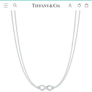 Tiffany & Co sterling silver infinity 16in pendant